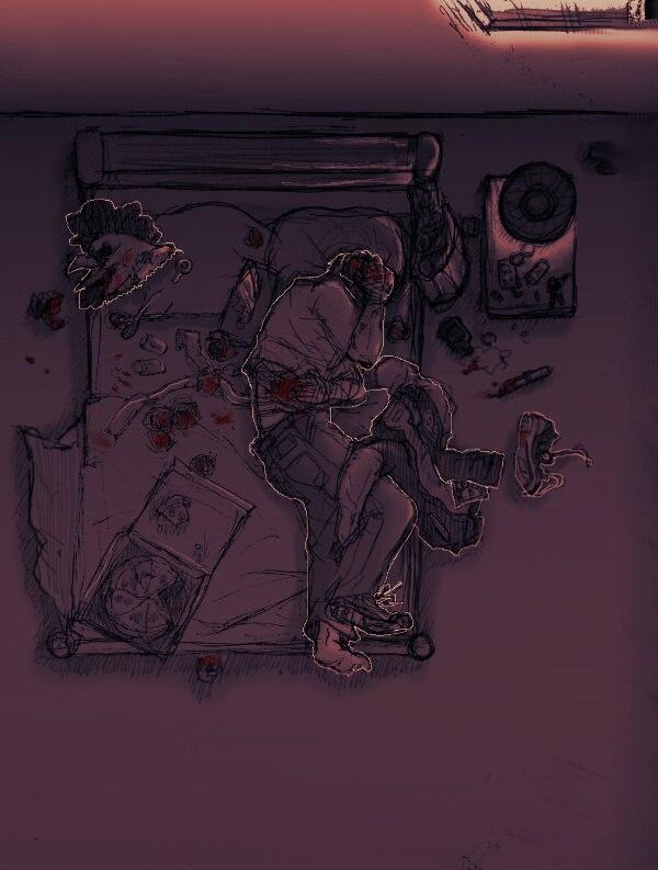 Despair - Hotline Miami Despair, jacket, Richard, Арт