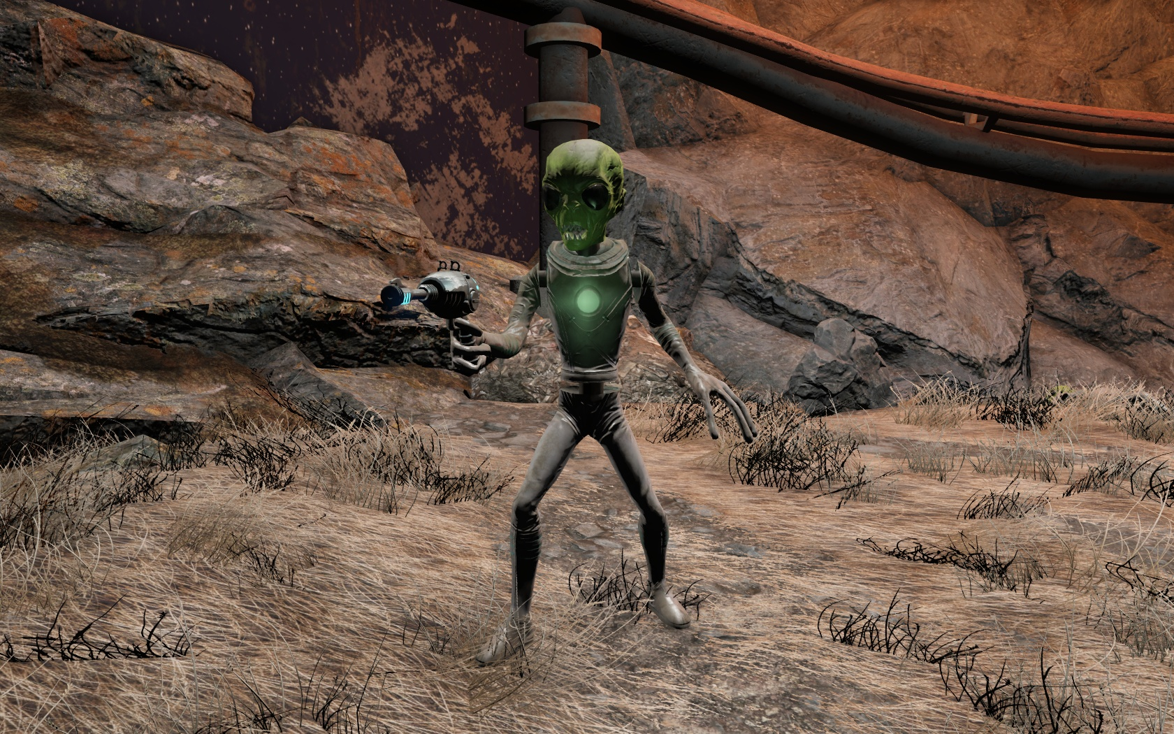 Аниматронный пришелец (Ядер-Мир, Ядер-Галактика) - Fallout 4 Nuka World, Аниматронный, пришелец, Ядер-Галактика, Ядер-Мир
