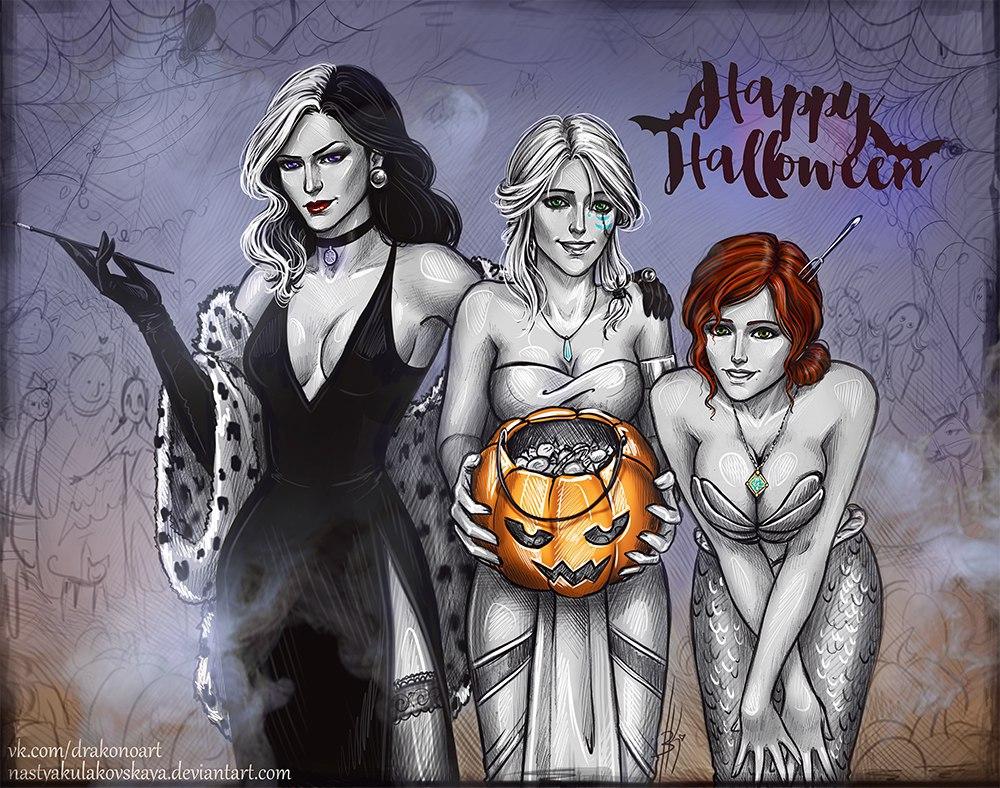 Подборка косплея по ведьмаку к Хэллоуину)) - - Косплей, Хеллоуин
