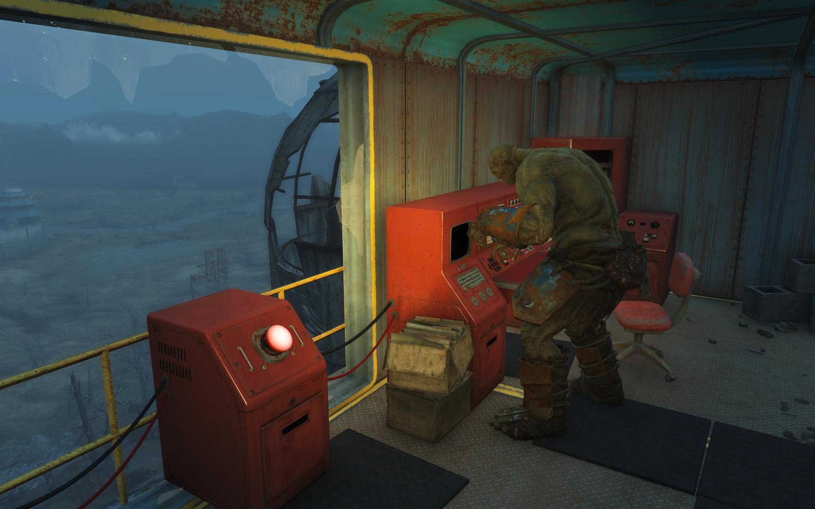 Силач помогает мне восстановить питание парка (Ядер-Мир, Электростанция Ядер-Мира) - Fallout 4 Nuka World, Силач, Электростанция, Электростанция Ядер-Мира, Ядер-Мир
