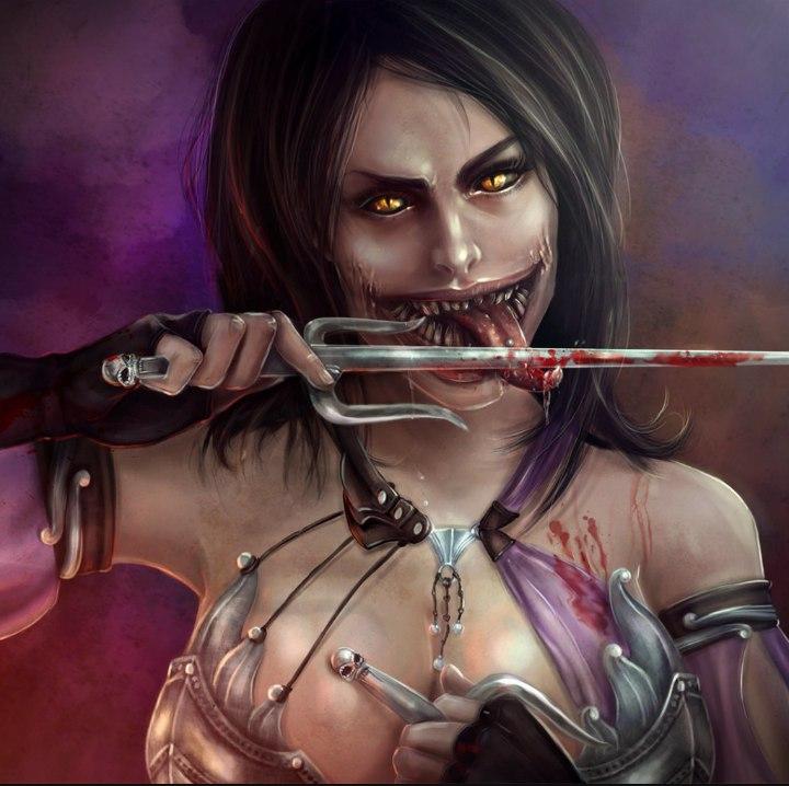 6wAZCXGnrDI.jpg - Mortal Kombat X Meleena, Арт