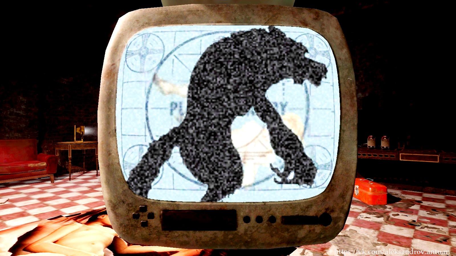 Телевизор. - Fallout 4 Анимированная заставка, Телевизор