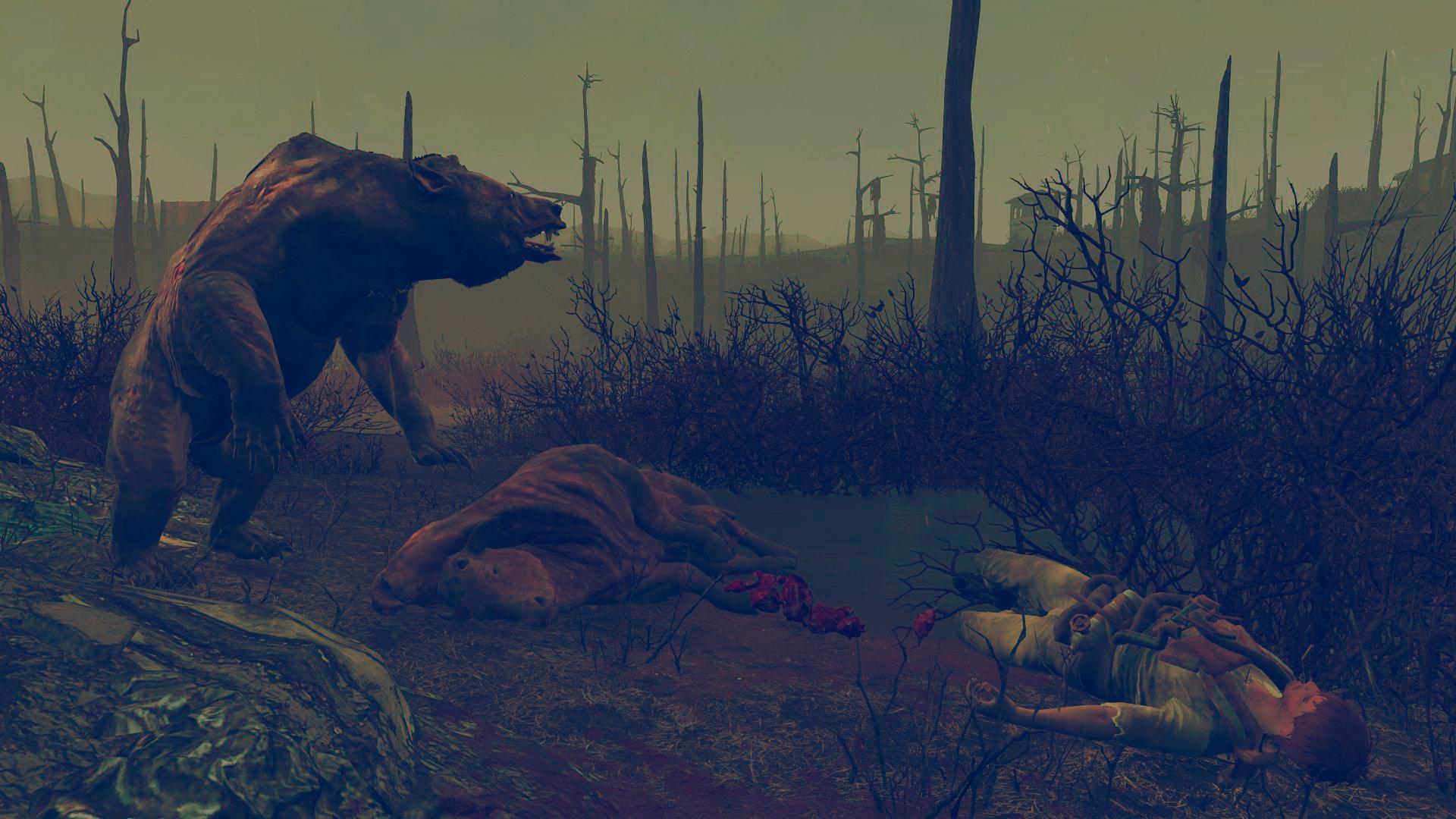 Медведь и добыча - Fallout 4 Яо-Гай