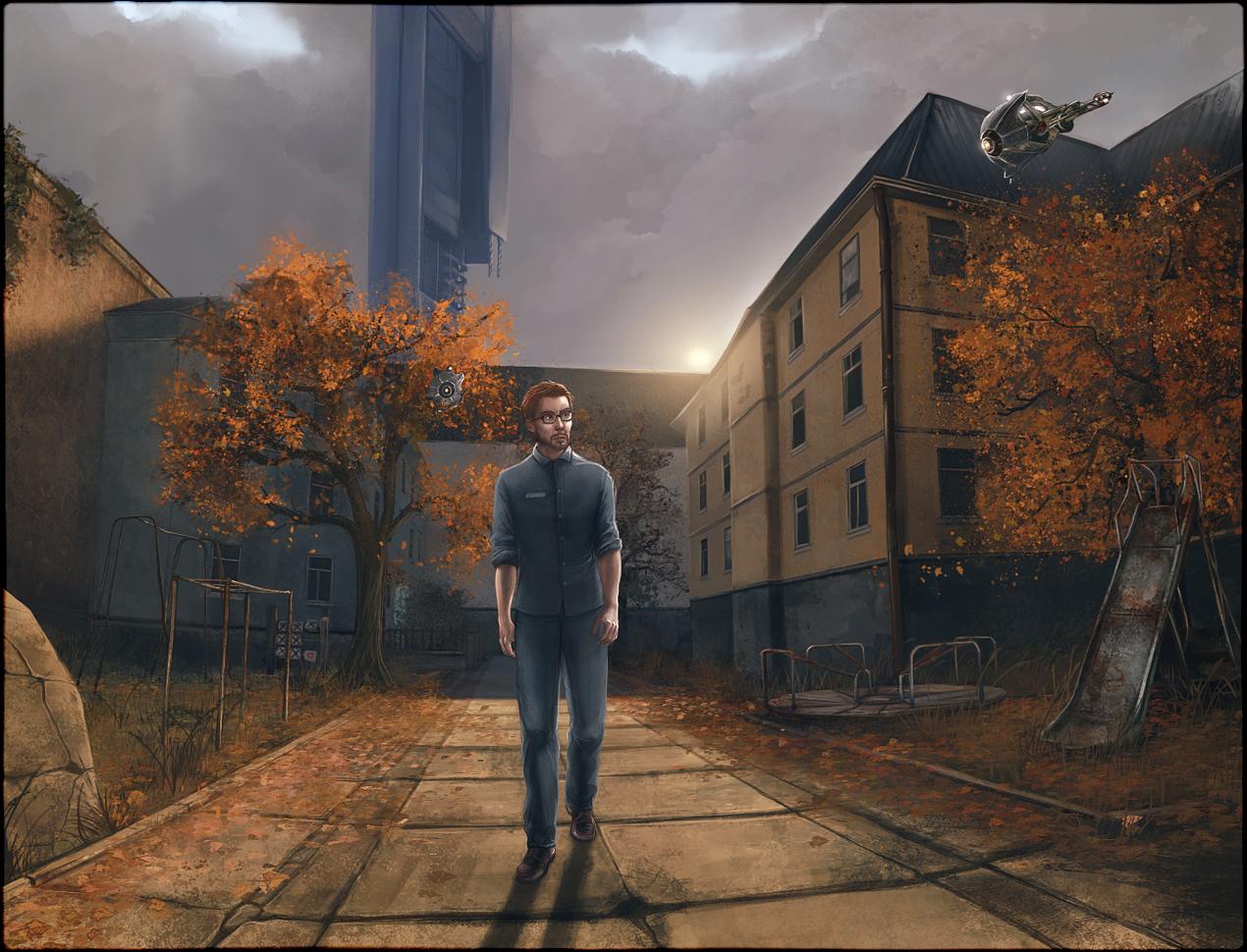 Прибытие - Half-Life 2 Арт, Гордон Фримен, очки, персонаж, Цитадель