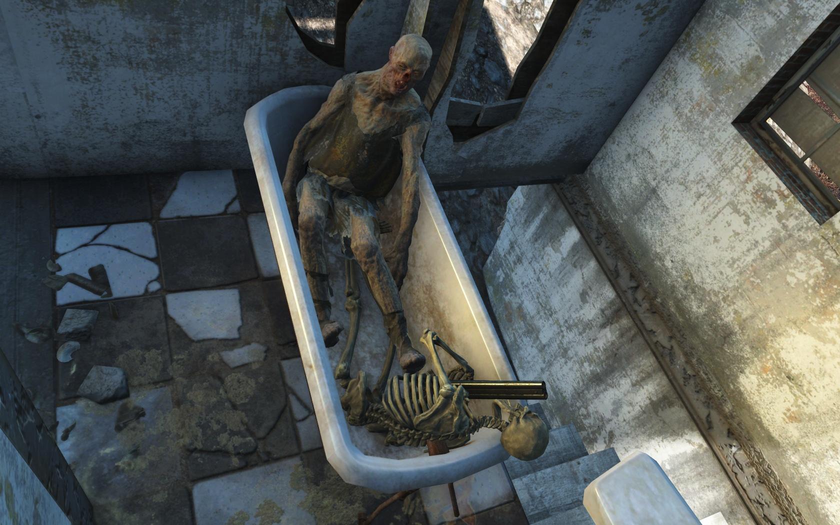 Смерть в хорошей компании (Натик-Бэнкс) - Fallout 4 гуль, Натик-Бэнкс, скелет