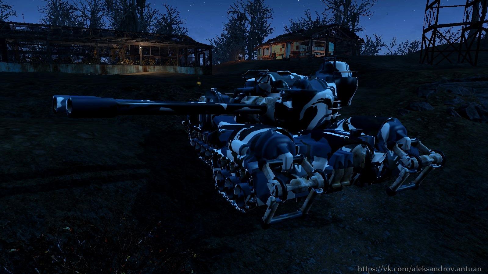 Танк на страже покоя поселенцев. - Fallout 4 The Small Addition - Turrets Standalone, танк