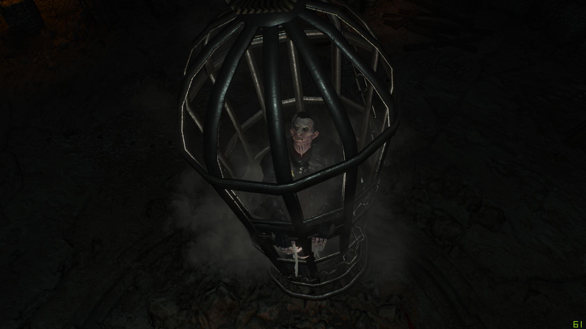 Деттлафа посадили в клетку Хагмара. - Witcher 3: Wild Hunt, the Деттлаф, Клетка, Хагмар