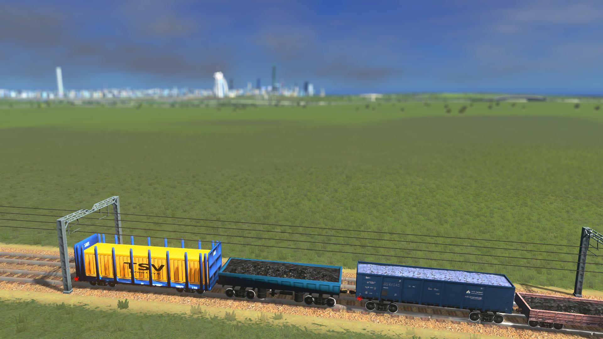 Российские вагоны - Cities: Skylines 3D Моделирование, Вагон, Мод, Модель для игры, Россия