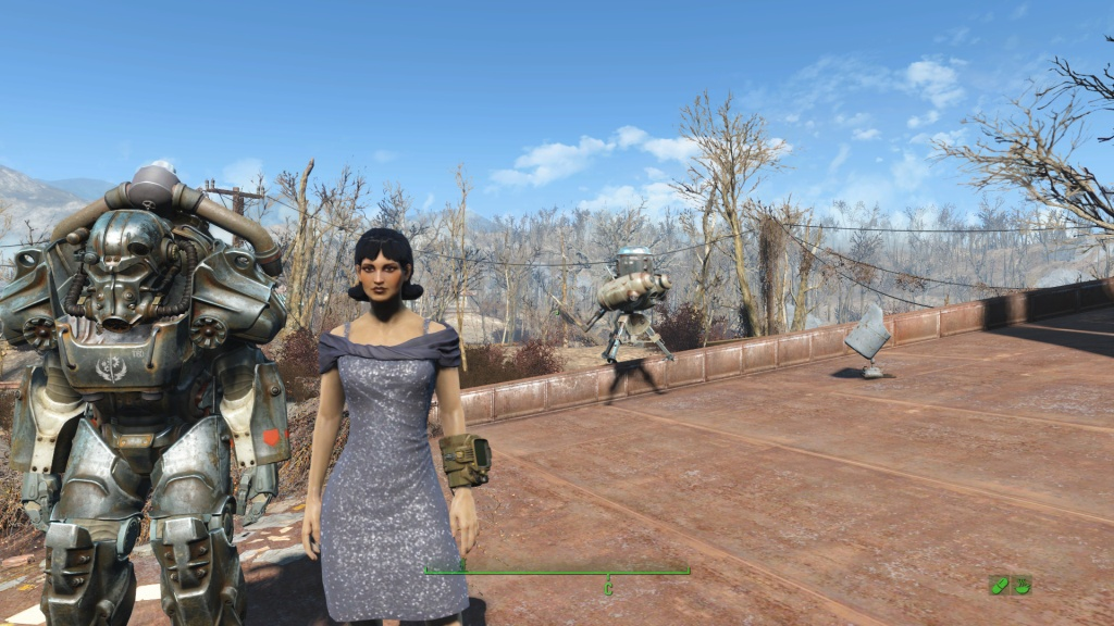 Моя героиня на 52 уровне игры - Fallout 4 стоянка Красная Ракета
