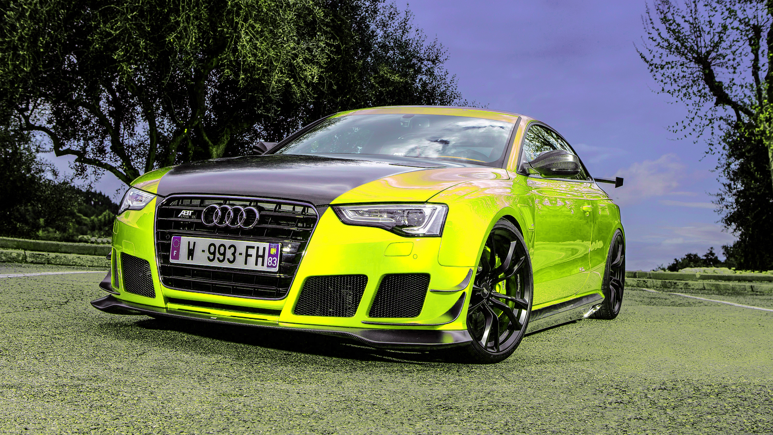 AUDI RS5-R Coupe ABT Sportsline Fluorescent Yellow Neon - - AUDI RS5-R Coupe ABT Sportsline Fluorescent Yellow
