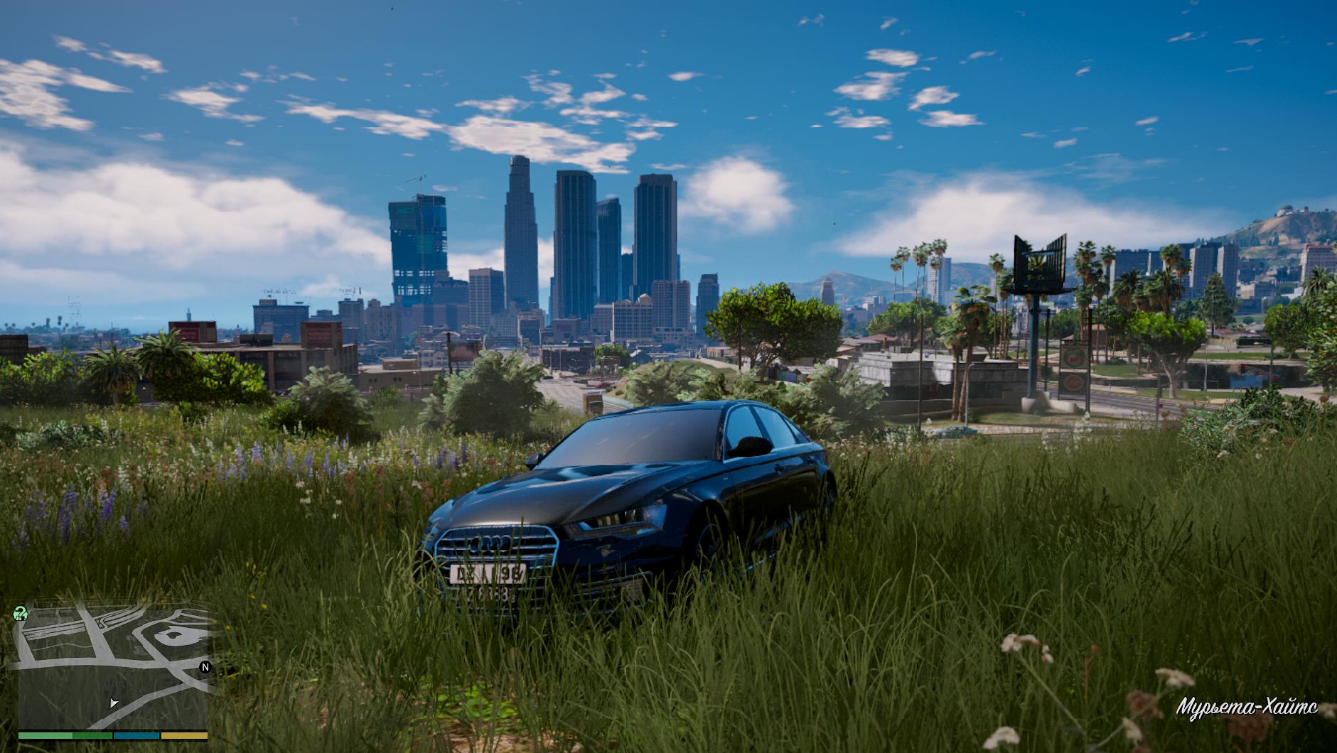 Ауди на фоне города - Grand Theft Auto 5 Автомобиль, Транспорт