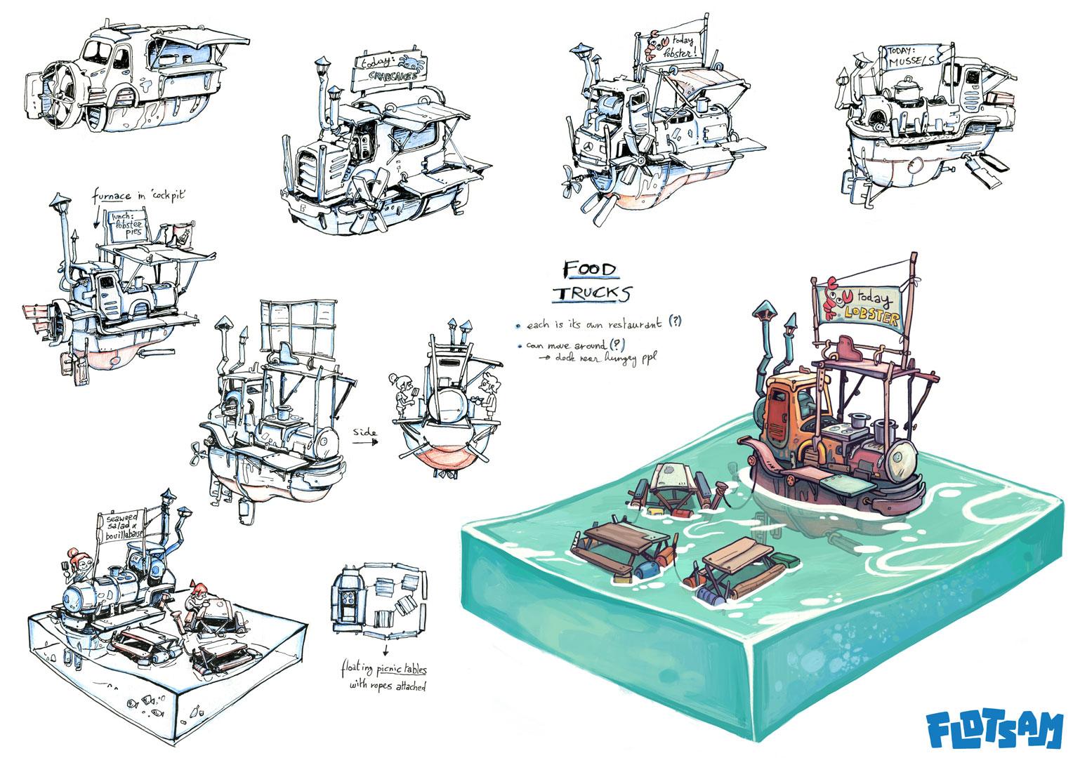 Грузовые корабли - Flotsam Арт