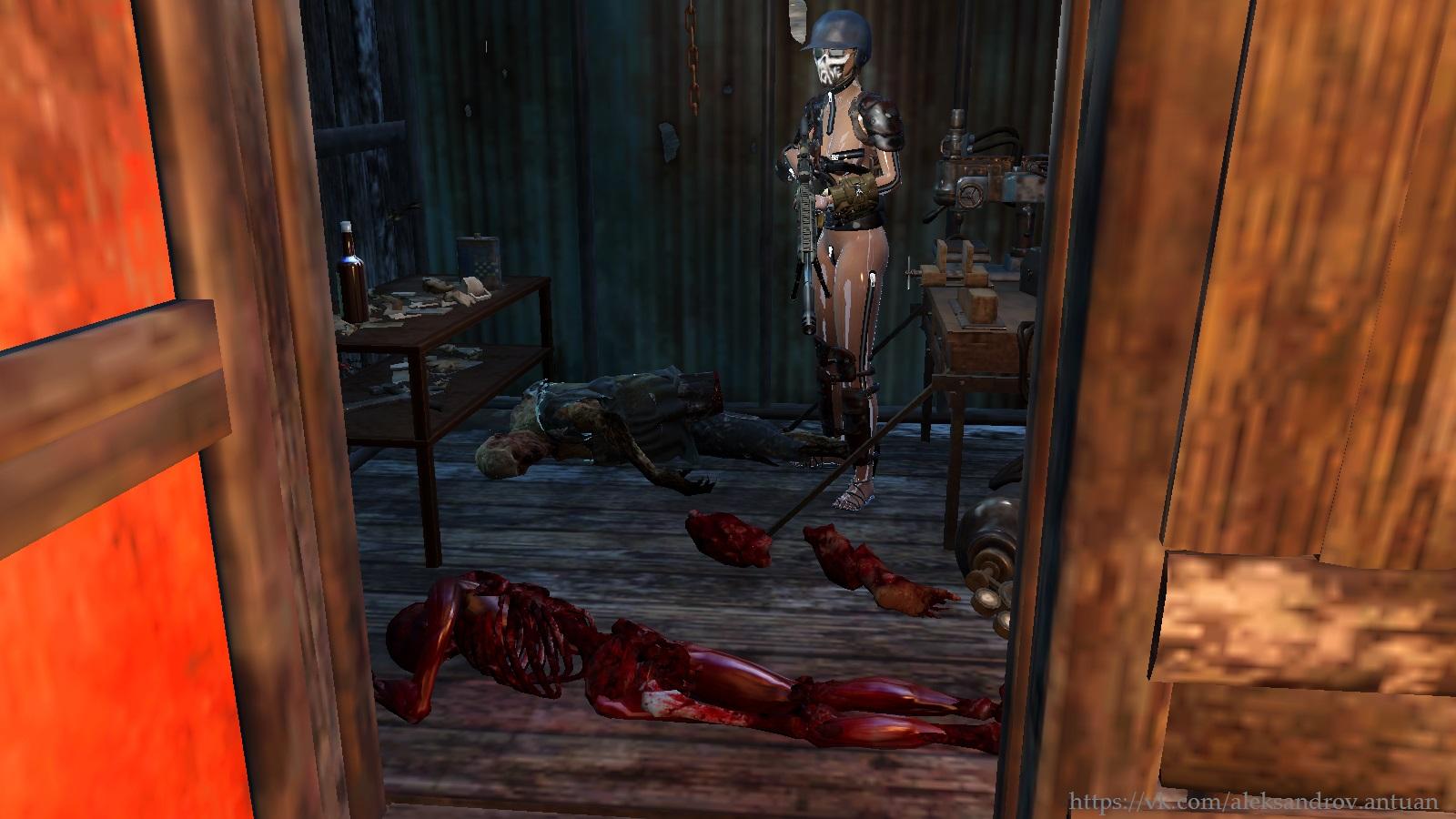 Объедки и тот кто не доел ... - Fallout 4 гуль, скелет