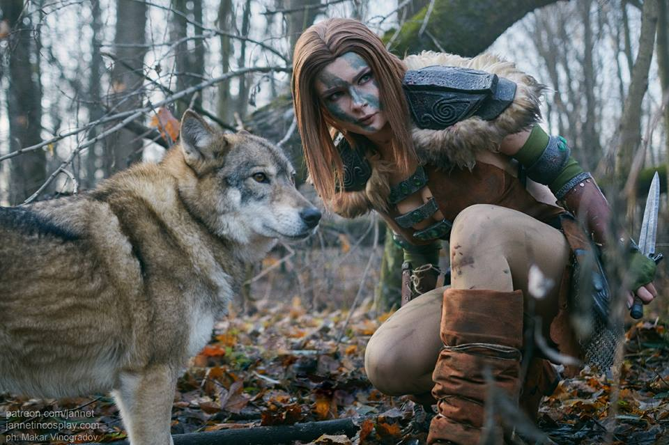 Aela the Huntress - by - Jannet (Elder Scrolls 5: Skyrim, the) - - косплей