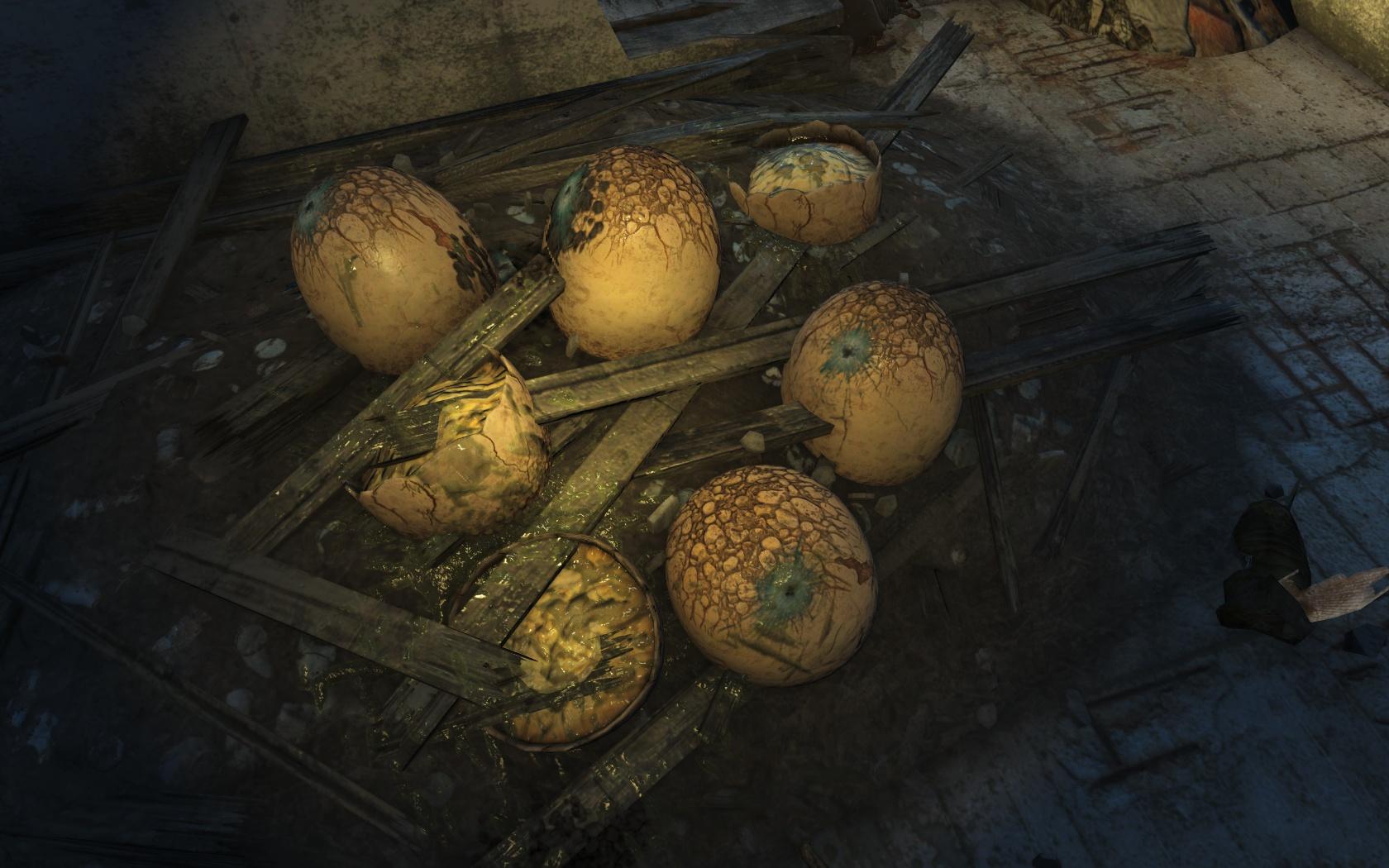 Непробиваемые яйца болотников (Салем) - Fallout 4 Баг, болотник, Салем, яйцо