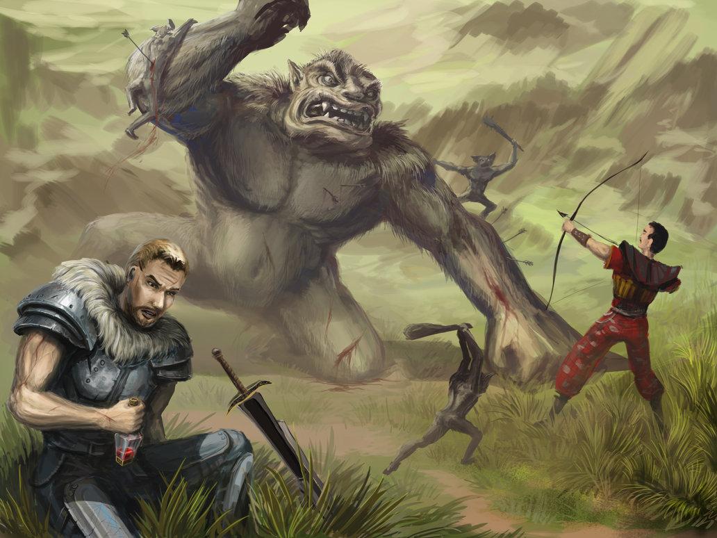 Сражение Диего с троллем, Безымянный отдыхает - Gothic