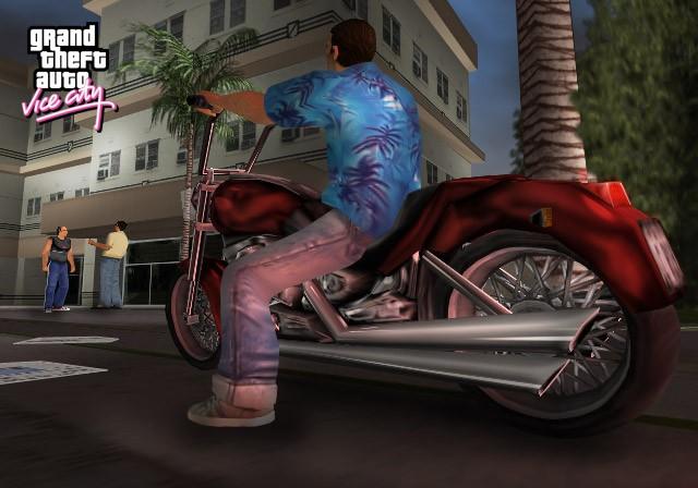 Томми на мотике - Grand Theft Auto: Vice City