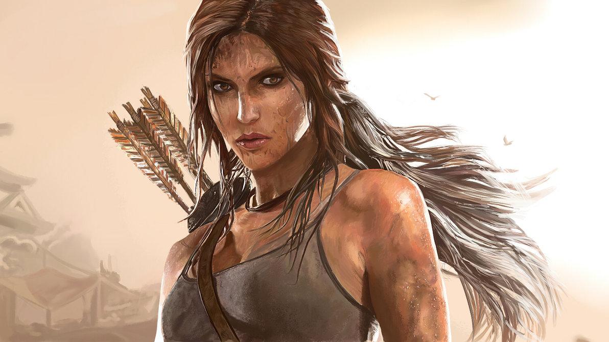 painting_lara_croft___tomb_raider_2013_by_speedportraits-d683ydg.jpg - Tomb Raider (2013)