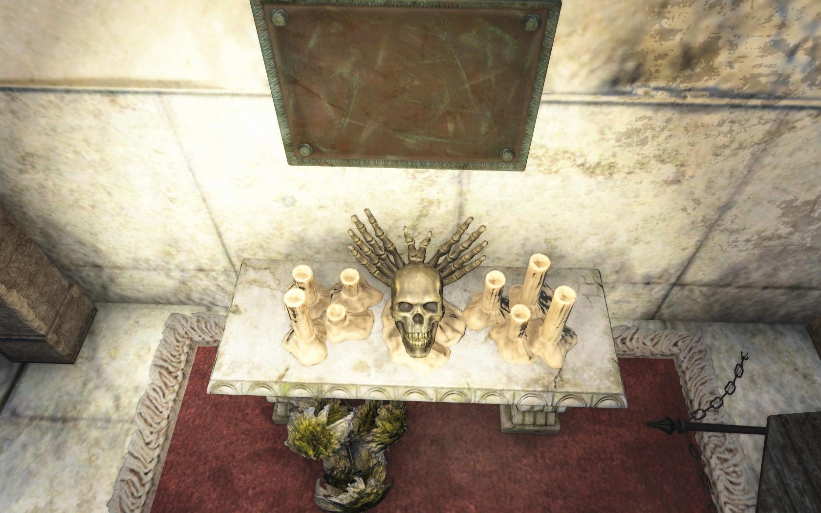 Красивые рожки (Кладбище Вайлдвуда) - Fallout 4 Вайлдвуд, Кладбище, Кладбище Вайлдвуда, Скелет