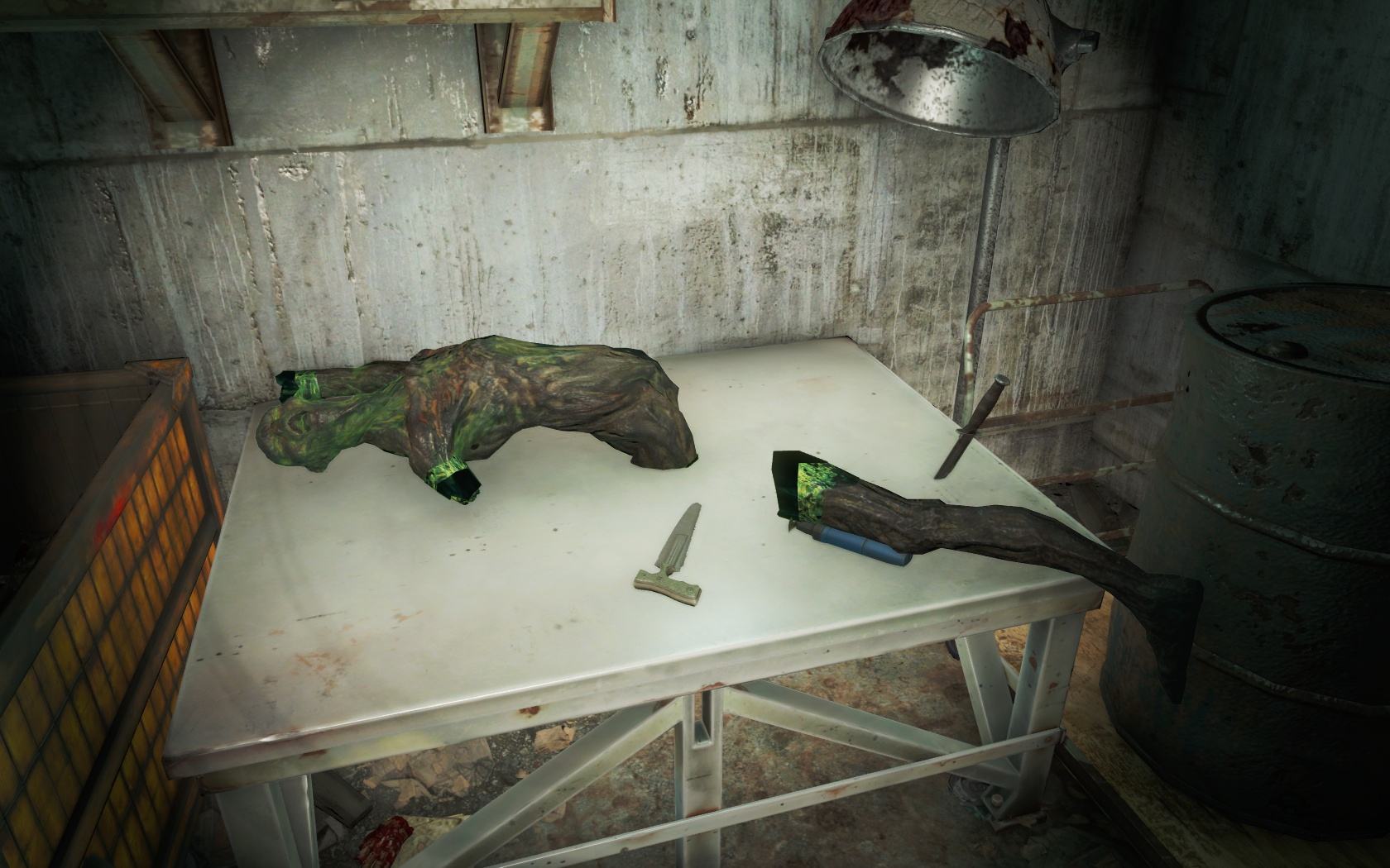 Мясозаготовка на зиму в самом разгаре! Вкуснячий Светящийся гуль (Консервный завод Большого Луковски) - Fallout 4 гуль, Консервный завод Большого Луковски, Светящийся