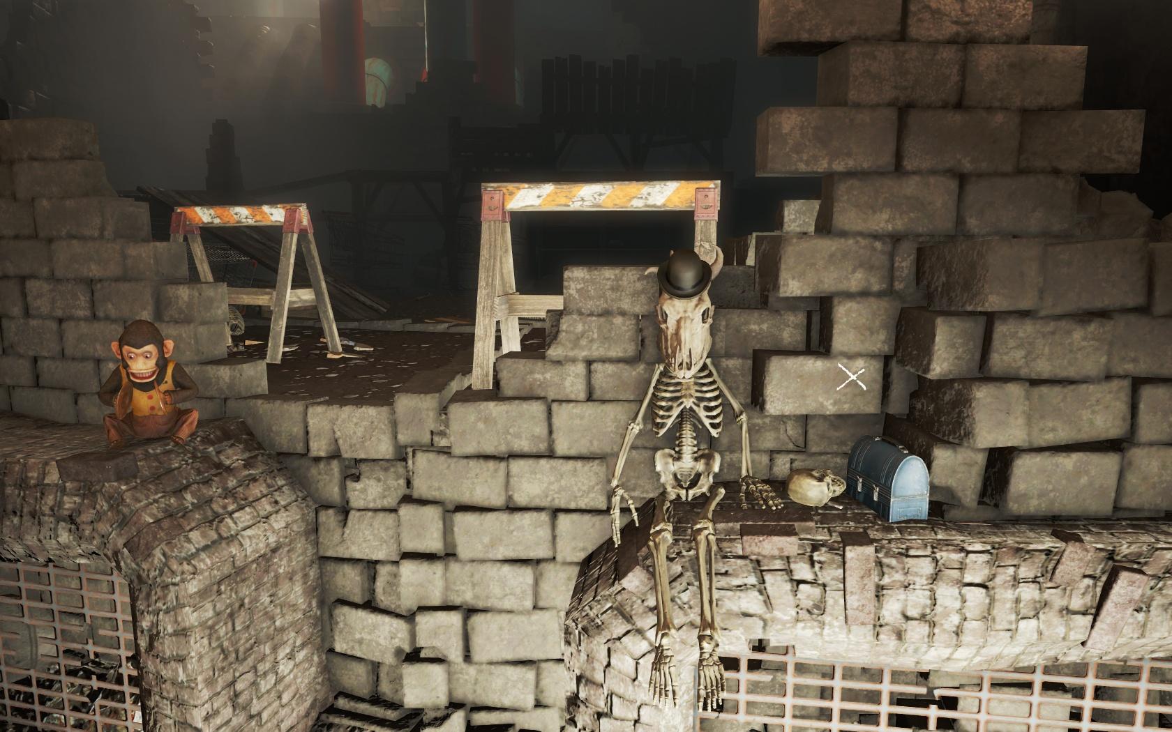 Новая голова (Канализация Фенс-стрит) - Fallout 4 Канализация, Канализация Фенс-стрит, скелет, Фенс, Фенс-стрит
