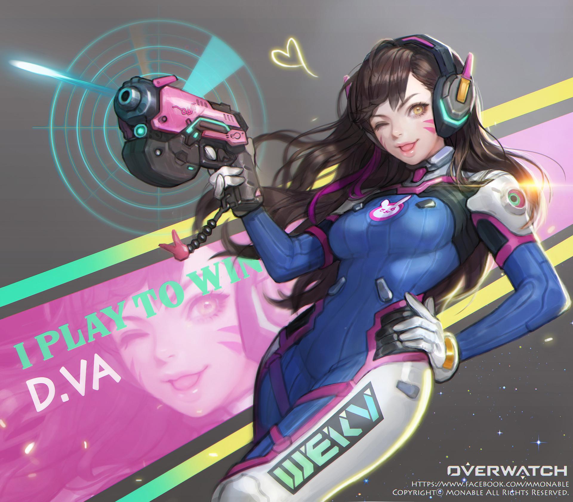 D.Va - Overwatch Арт