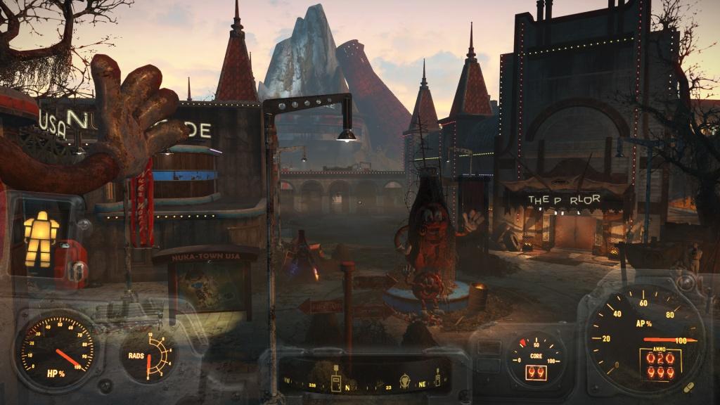 слева от Салуна - Fallout 4 01 ньюка-ворлд, 02 салун, 03 слева от салуна