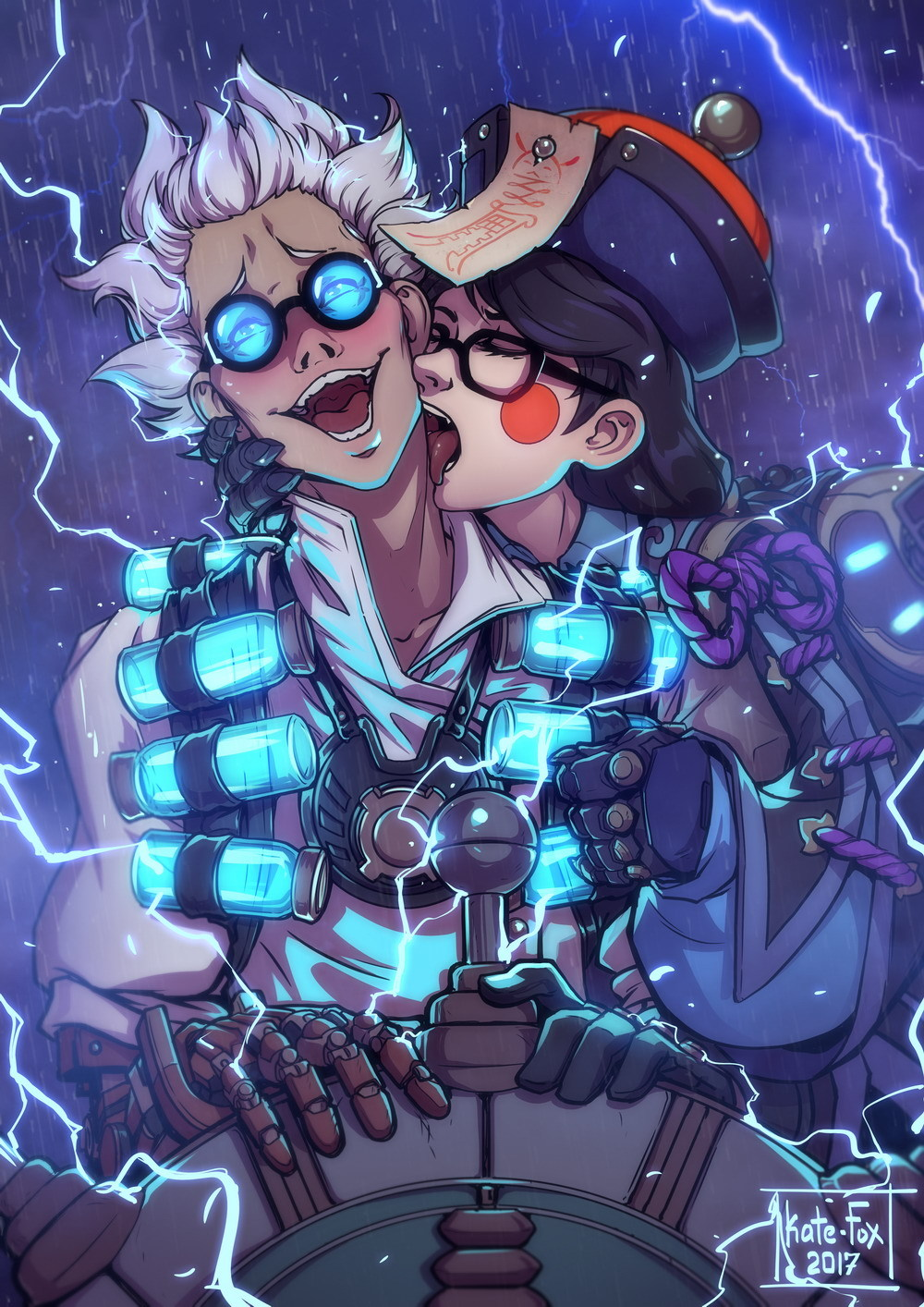 Mei and Junkrat - Overwatch Mei