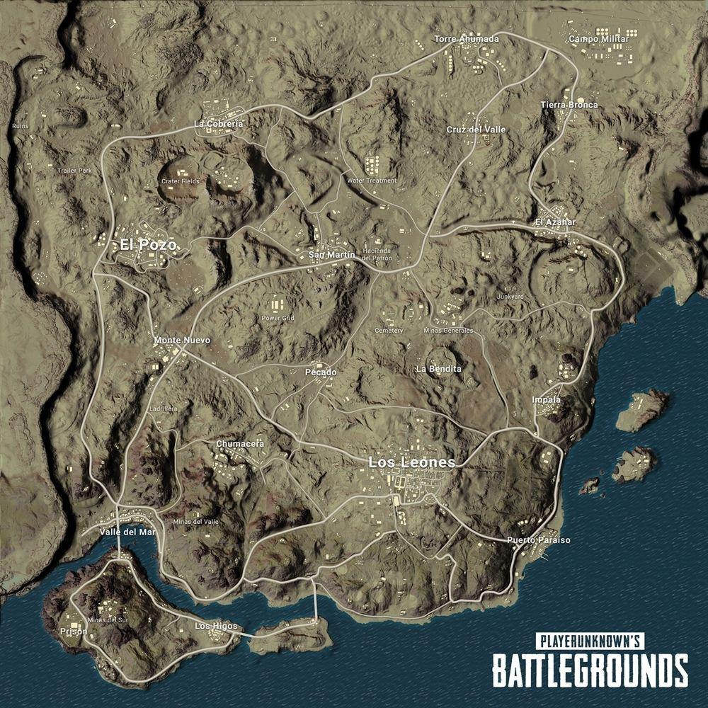 PlayerUnknown's Battlegrounds - карта Miramar - PlayerUnknown's Battlegrounds Арт