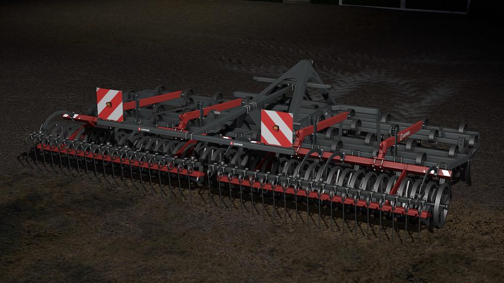 Мод культиватора Saphir GE601 - Farming Simulator 17 Saphir GE601