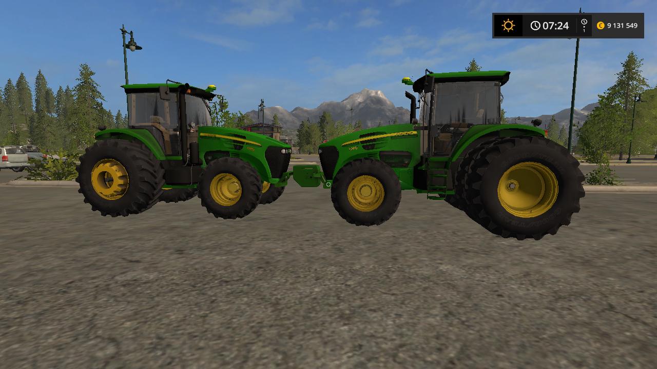 JOHN DEERE 7J V1.0 - Farming Simulator 17 Мод, Транспорт