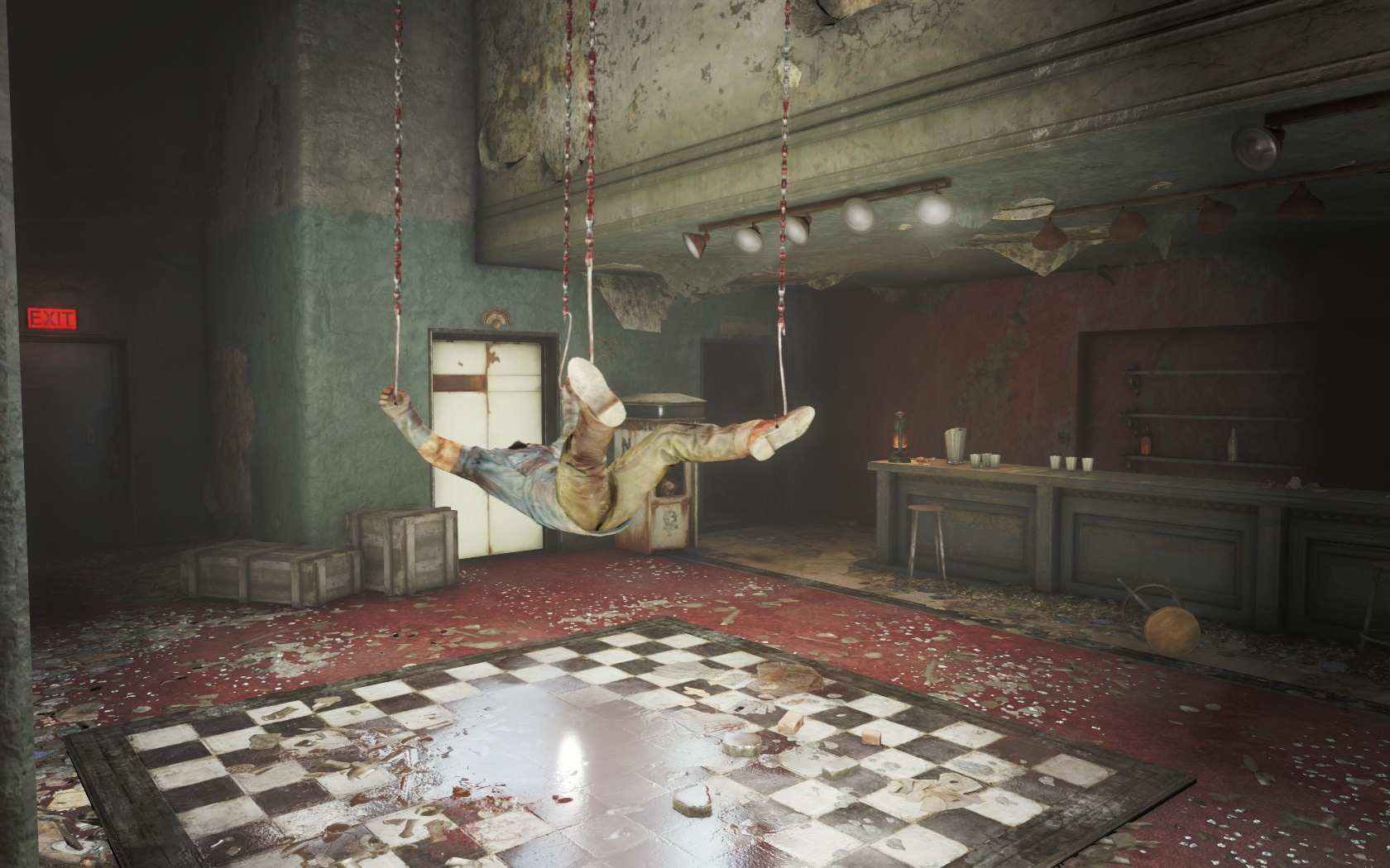 Декор (Бар Парквью) - Fallout 4 Бар, Бар Парквью, Парквью