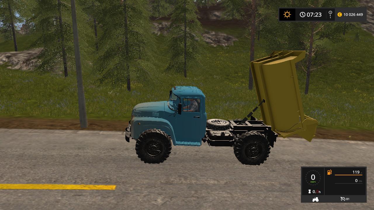 ZIL MMZ 555 V 1.0 - Farming Simulator 17 Мод, Транспорт