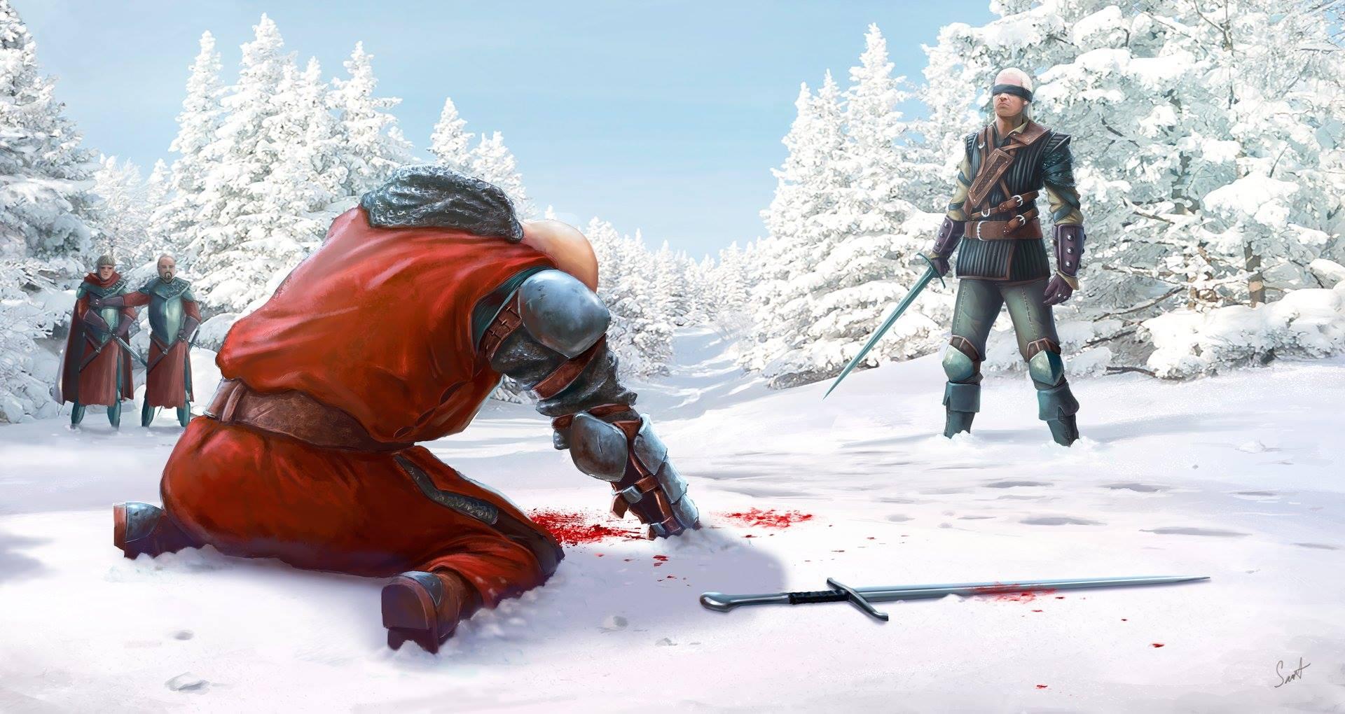Кровь на снегу - Witcher 3: Wild Hunt, the