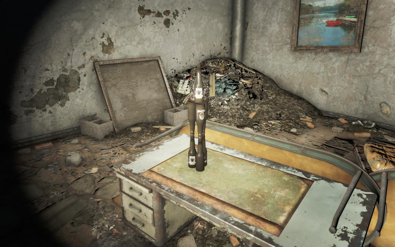 Креатив (Политехническая школа Центрального Бостона) - Fallout 4 Бостон, Бутылка, Политехническая школа Центрального Бостона, Центральный Бостон, школа