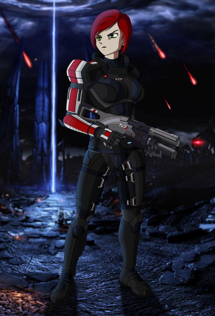 CK-wYNHy6vg.jpg - Mass Effect 3 Shepard Fem, Арт