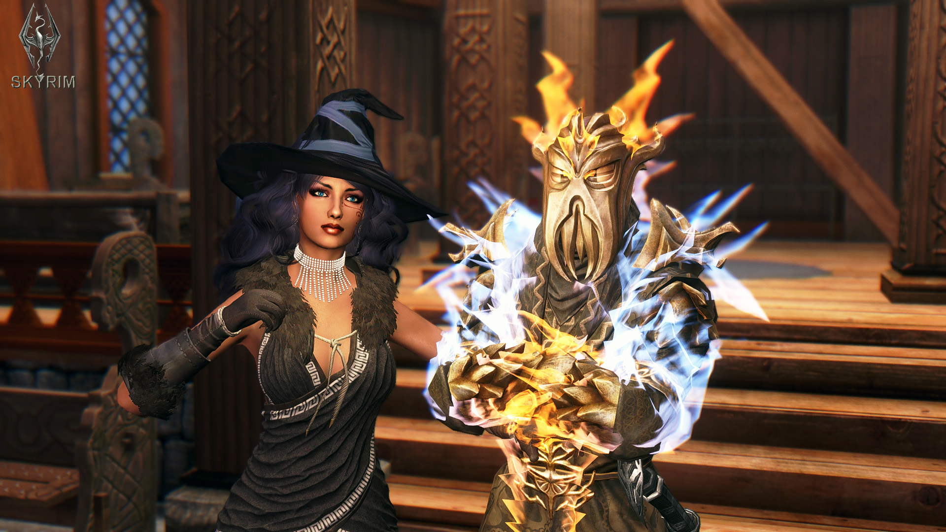 792. Алисса и Мирак в люксе.jpg - Elder Scrolls 5: Skyrim, the CBBE, Сборка-21