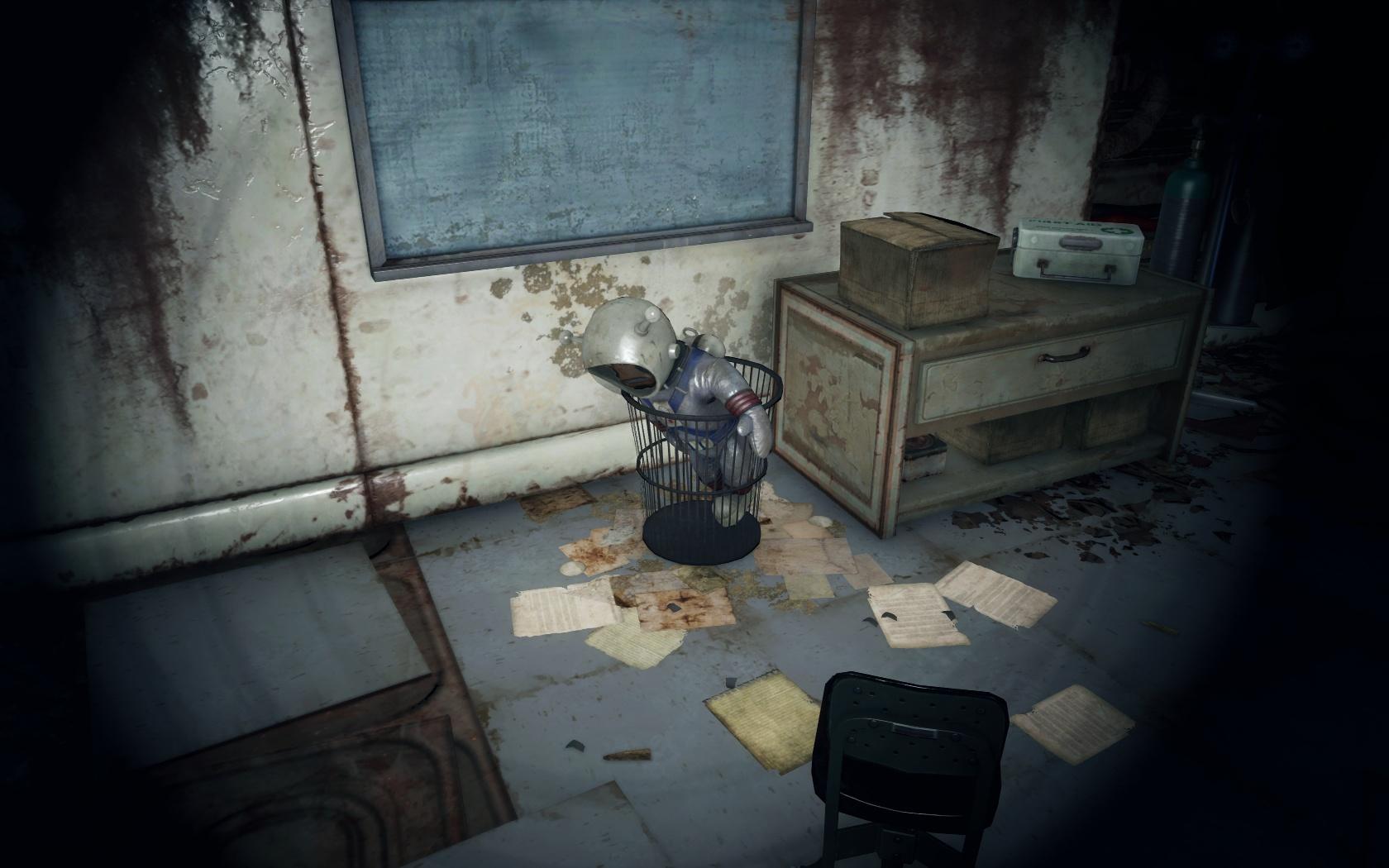 Выкинули бедную мартышку (Медфордская больница) - Fallout 4 больница, Лунная, мартышка, Медфордская больница