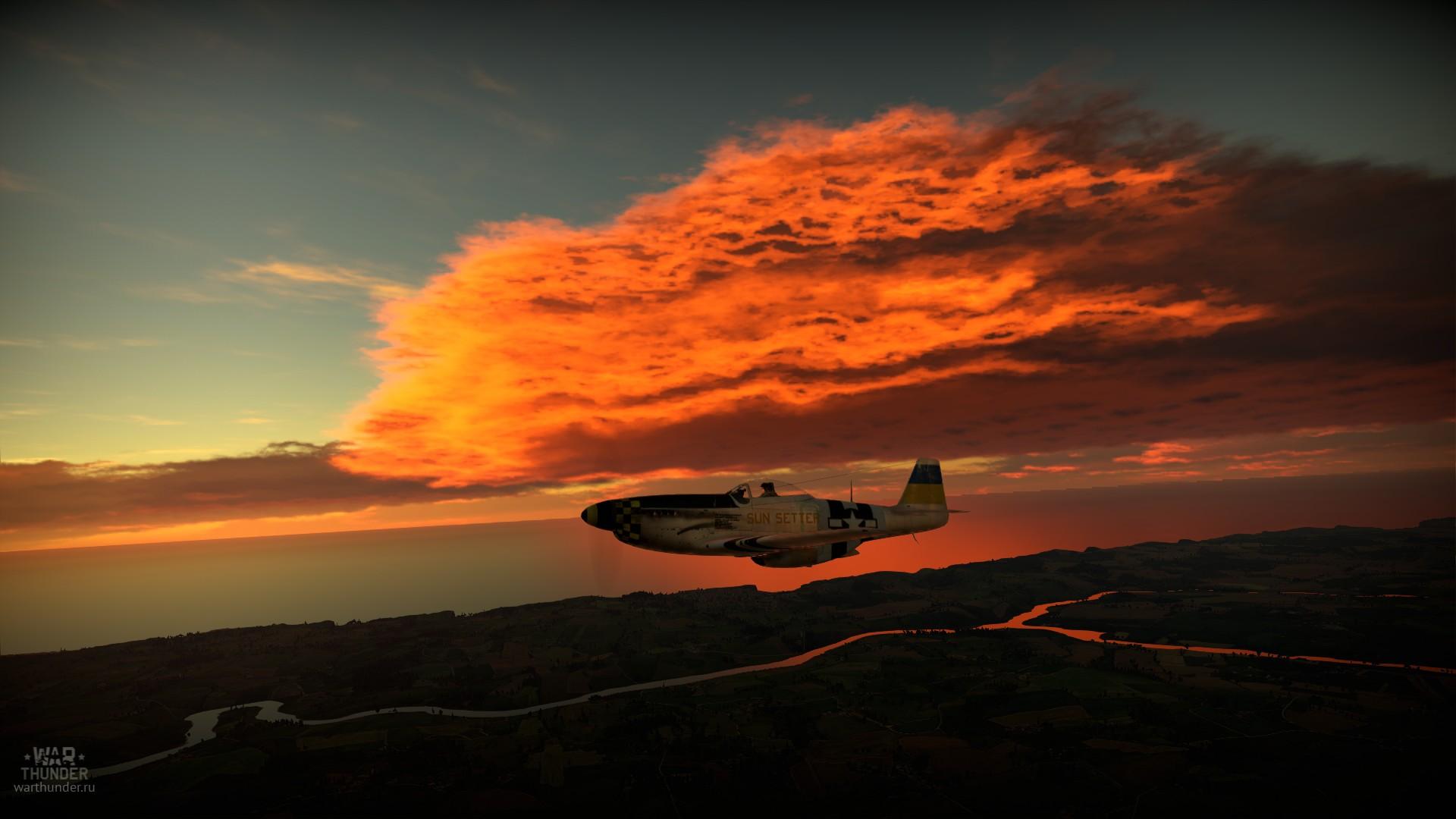 закат - War Thunder Самолёт