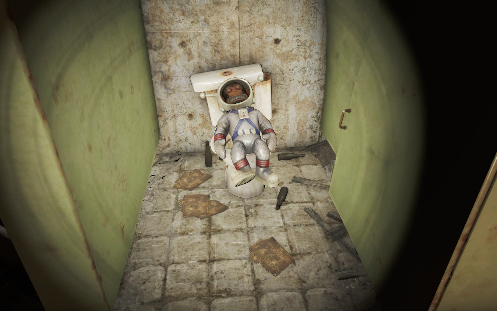 У него есть, что почитать и выпить (Хьюбрис Комикс) - Fallout 4 Комикс, Лунная, мартышка, Хьюбрис, Хьюбрис Комикс