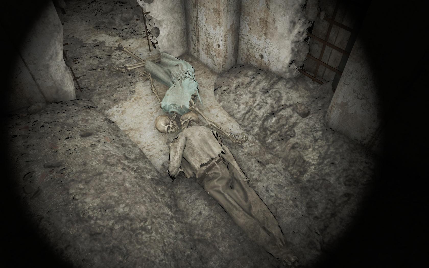Прощальный поцелуй (Психиатрическая больница Парсонс) - Fallout 4 больница, Парсонс, Психиатрическая больница Парсонс, скелет