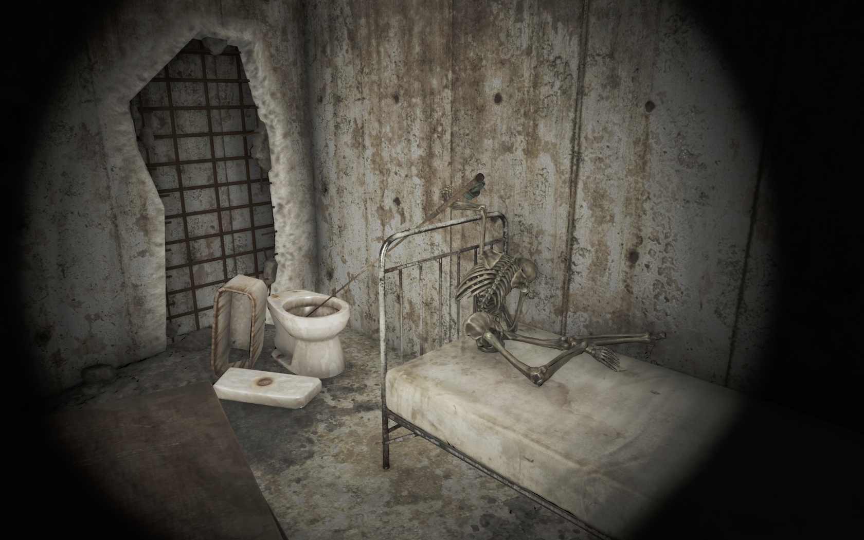 Рыбалка (Психиатрическая больница Парсонс) - Fallout 4 больница, Парсонс, Психиатрическая больница Парсонс, скелет