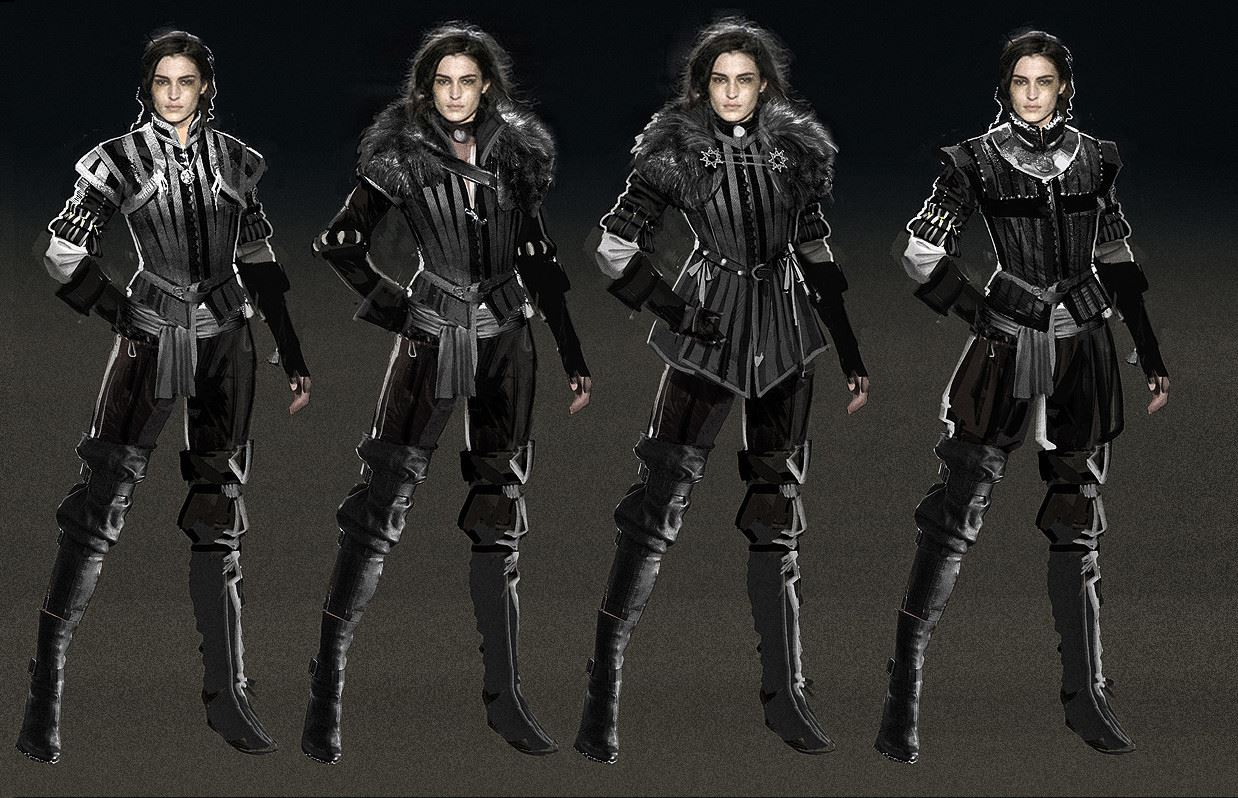 The Witcher 3: Wild Hunt - Ранние концепты костюмов Йеннифер - Witcher 3: Wild Hunt, the Концепт