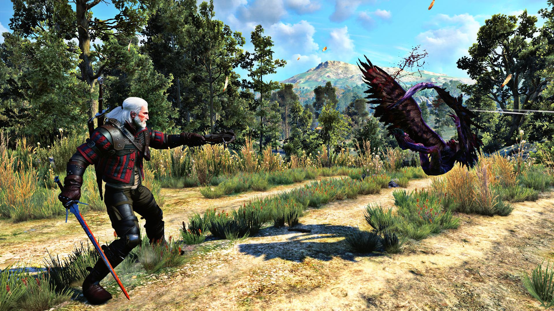 Геральт - Witcher 3: Wild Hunt, the Гарпия, Гвинблейд, Монстр