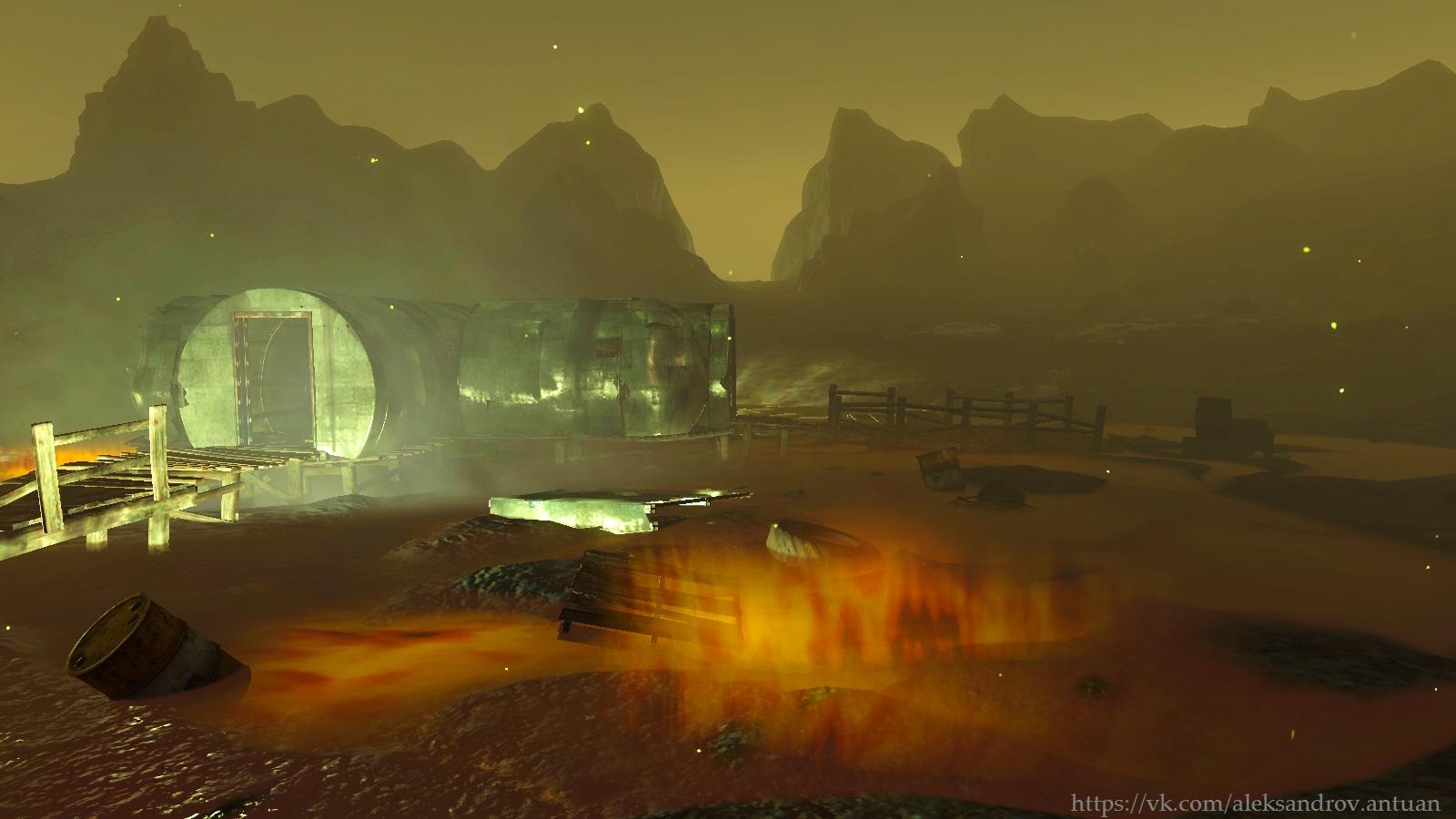 Светящееся море - радиоактивная красота. - Fallout 4 Светящееся море