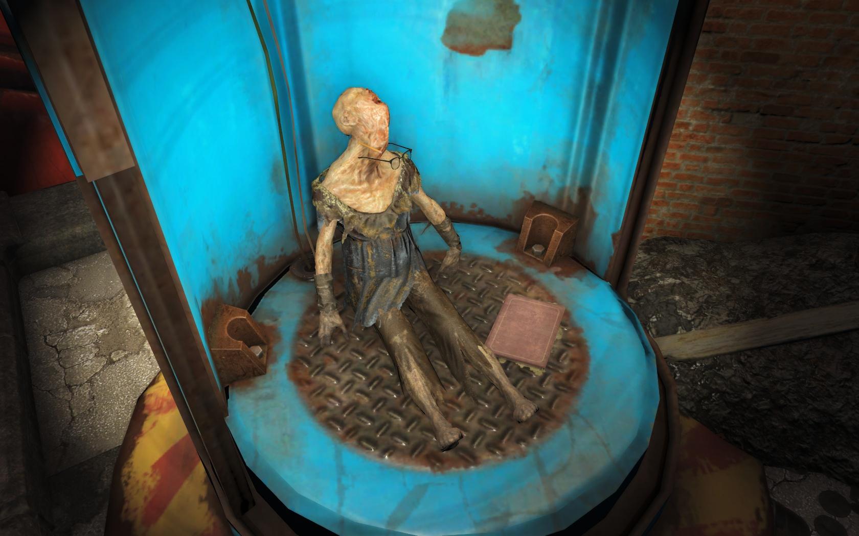 Начитанная мадам (около Политехнической школы Центрального Бостона) - Fallout 4 Бостон, Гуль, Политехническая школа Центрального Бостона, Центральный Бостон, школа