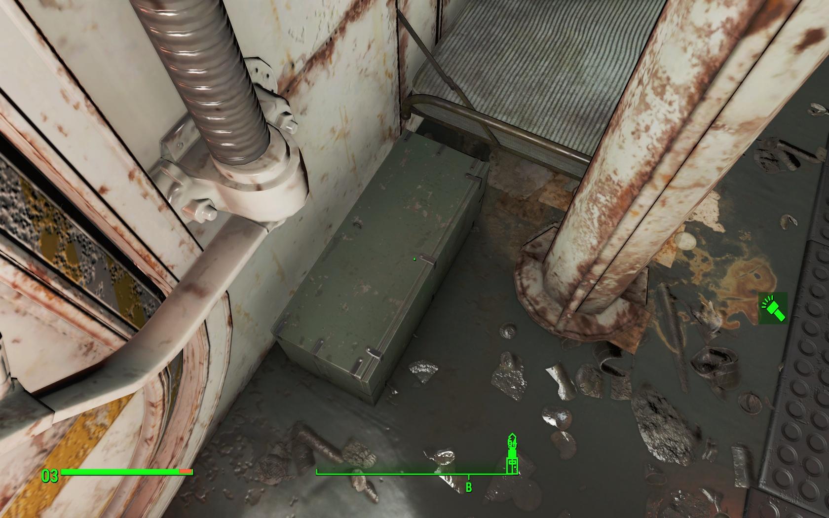 Недоступный сундук (подлодка Янцзы) - Fallout 4 Баг, Недоступный, подлодка, подлодка Янцзы, сундук, Янцзы