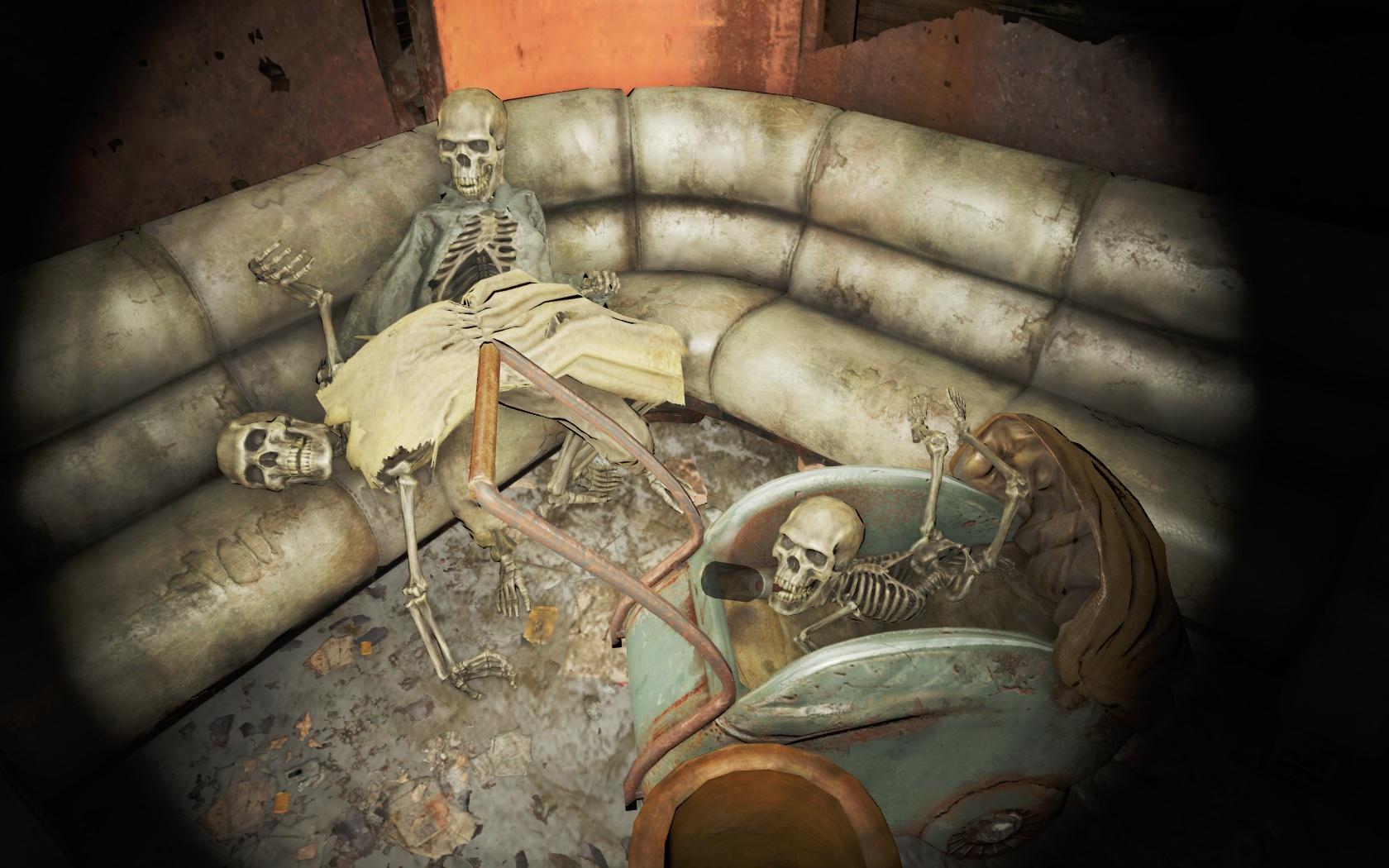 Странная семейка (Медцентр Массачусетс-Бэй) - Fallout 4 Массачусетс, Массачусетс-Бэй, Медцентр, Медцентр Массачусетс-Бэй, Скелет
