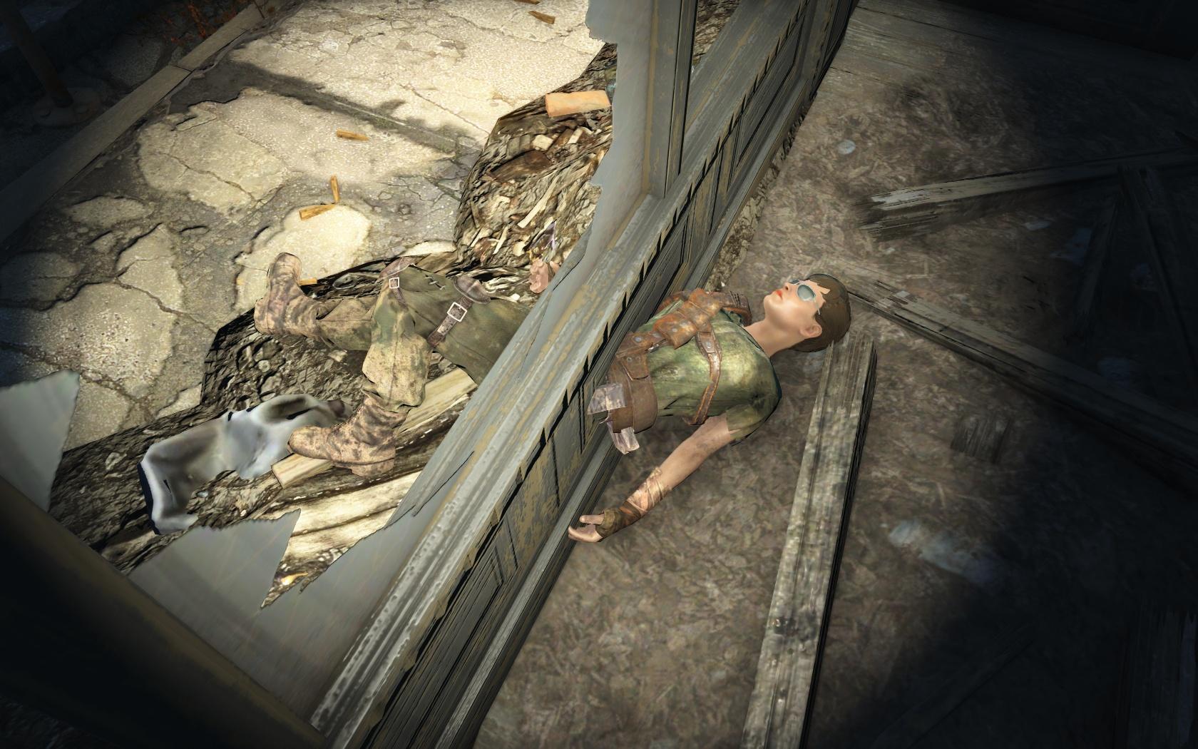 Страшная смерть (Гравий и песок, западнее) - Fallout 4 Баг, Гравий и песок