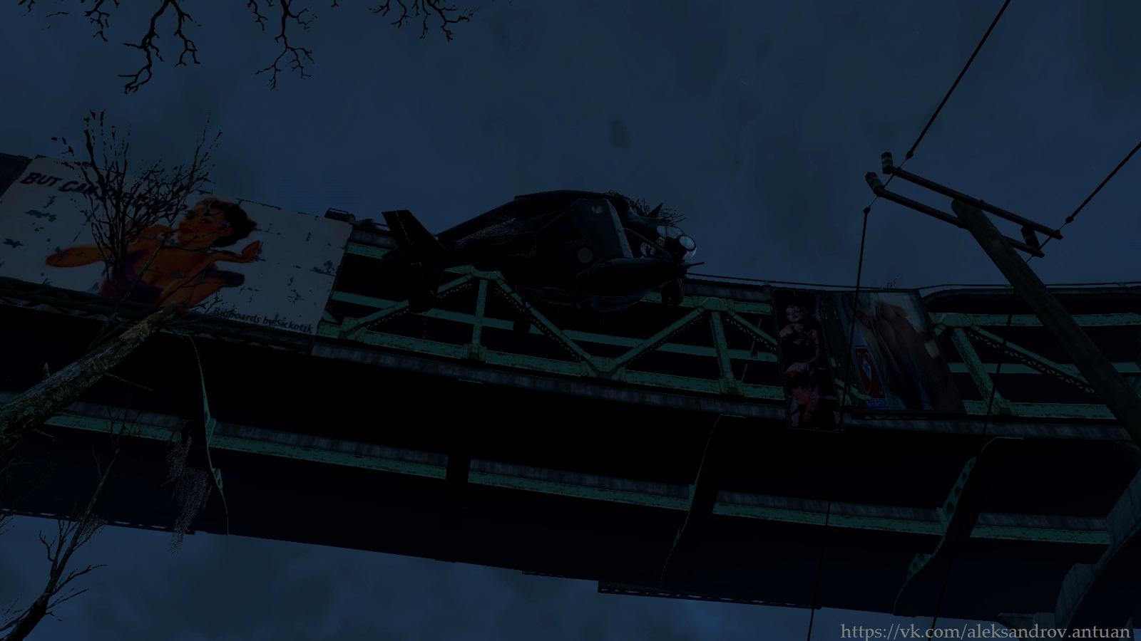 Винтокрыл на эстакаде ... - Fallout 4 винтокрыл